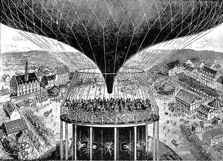 Внутренний вид павильона «Синеорамы» во время  демонстрации фильма